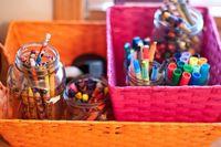 Jars of crayons