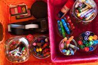 Baskets of supplies