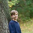 Owen by tree