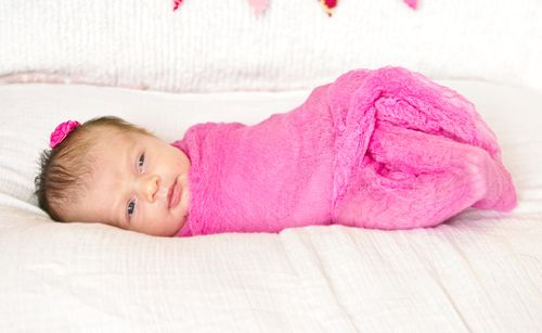 Pink swaddle